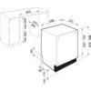 Masina de spalat vase incorporabila Franke FDW 614 D7P DOS A++ 117.0568.962, 14 seturi, 7 programe, Pornire intarziata, Incarcare la jumate, Buton 3-in-1, Afisaj digital, Protectie scurgere apa, 60 cm, Clasa A++