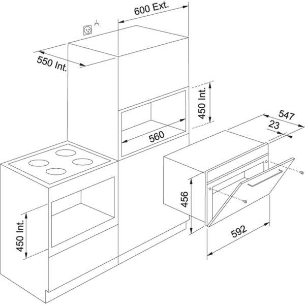 Cuptor incorporabil cu microunde Franke Crystal FMW 45 CR C BK 131.0518.328, 1000 W, Grill, 12 programe, 40 L, Control electronic, Cristal negru