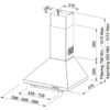 Hota Franke Classic line FCM 602 PW 320.0524.215, Semineu conica, Capacitate 380 m3/H (maxim, mod evacuare), 3 viteze, Putere 125 W, Latime 60 cm, Crem (Panna)
