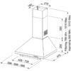 Hota Franke Classic line FCM 602 GF 320.0524.218, Semineu conica, Capacitate 380 m3/H (maxim, mod evacuare), 3 viteze, Putere 125 W, Latime 60 cm, Grafite