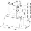 Hota Franke Trendline Plus 70 BK 321.0536.200, Decorativa perete, Capacitate 560 m3/H (maxim, mod evacuare), 3 viteze, Putere 270 W, Latime 70 cm, Negru