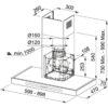 Hota Franke Gemma FSMT 605 XS 325.0500.978, Semineu dreapta, Capacitate 520 m3/H (intensiv, mod evacuare), 3 viteze+intensiv, Touch control, Latime 60 cm, Inox Satinat