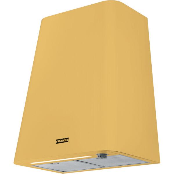 Hota Franke Smart deco FSMD 508 YL 335.0530.202, Decorativa perete, Capacitate 650 m3/H (maxim, mod evacuare), 3 viteze+intensiv, Comanda mecanica, Latime 50 cm, Matt Mustard Yellow
