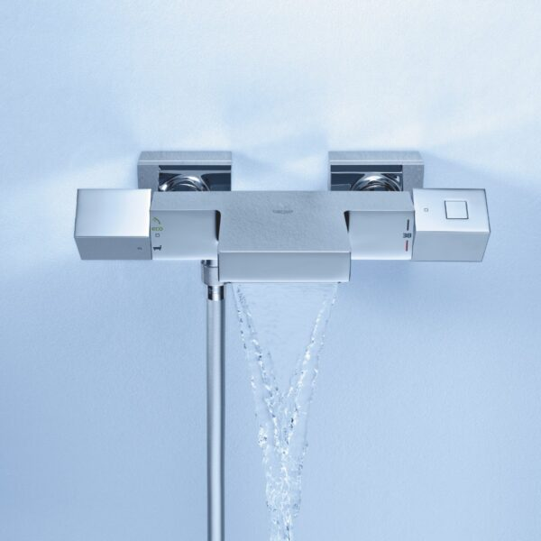 Baterie cada Grohe Grohtherm Cube, termostat,crom, montare perete-34497000