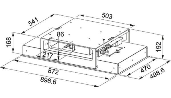 Hota Franke Maris FCFL 906 XS 350.0490.864, Tip caseta (tavan) ,Capacitate 700 m3/H (intensiv, mod evacuare), 3 viteze+intensiv, Control electronic, Functie oprire automata, Latime 90 cm, Inox