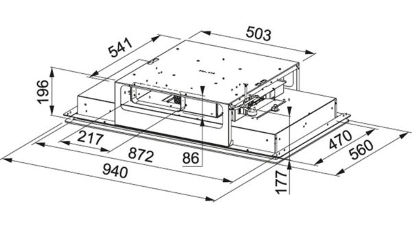 Hota Franke Mythos Flat FMYCF 906 WH 350.0518.554, Tip caseta (tavan), Capacitate 640 m3/H (intensiv, mod evacuare), 3 viteze+intensiv, Comanda Soft touch, Latime 94 cm, Finish sticla alba