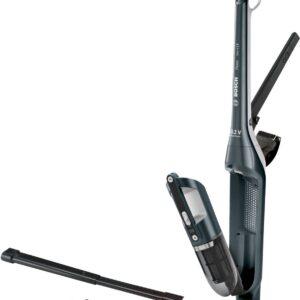 Aspirator vertical 2-in-1 Bosch BCH3ALL25, 0.4 L, 25.2 V, Li-Ion, Autonomie 55 min., 2 nivele de putere, Sistem EasyClean, Accesoriu extensibil, Midnight sapphire metallic