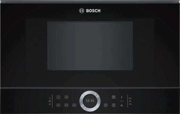 Cuptor cu microunde incorporabil Bosch BFL634GB1, 21 l, 900 W, AutoPilot7, Deschidere stanga, Inverter, sticla neagra