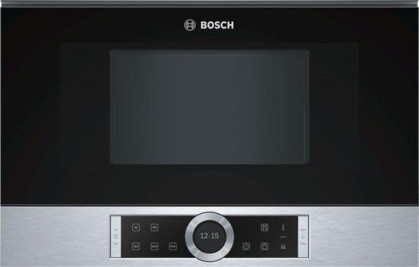 Cuptor cu microunde Bosch BFL634GS1, 21 l, 900 W, AutoPilot7, Inverter, Deschidere stanga, Inox