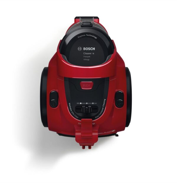 Aspirator fara sac Bosch GS05 Cleann'n BGC05AAA2, 700 W, 1.5 l, EPA, Parchet, Rosu