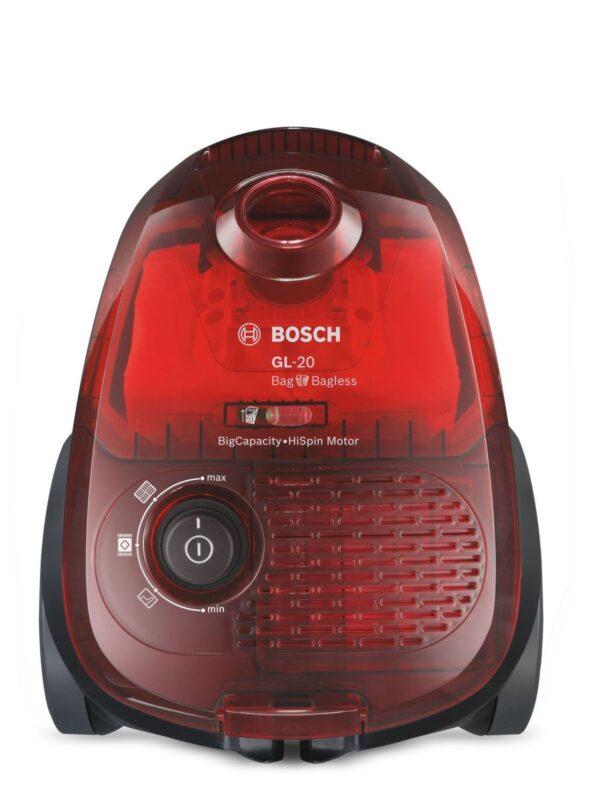 Aspirator Bosch GL-20 Bag&Bagless BGL2UA2008, 700 W, 3.5 l, Cherry red transparent