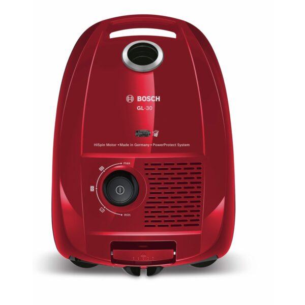 Aspirator cu sac Bosch BGL3B210 GL-30, 650W, Energie B, 4l, Rosu Cayenne