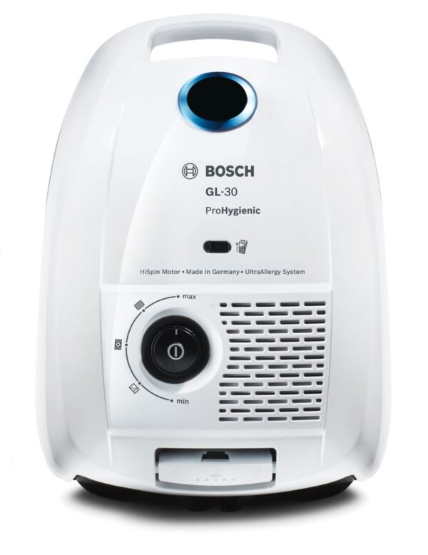 Aspirator cu sac Bosch GL-30 ProHygienic BGL3HYG, 600W, 4 l, ULPA 15, Alb