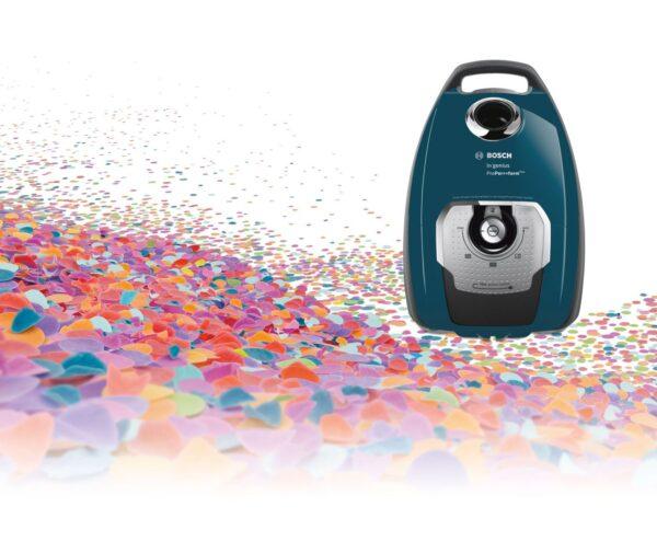 Aspirator cu sac Bosch GL-80 In'genius ProPer>>form Plus BGL8508, 650W, 5 l, EPA 10, Deep petrol