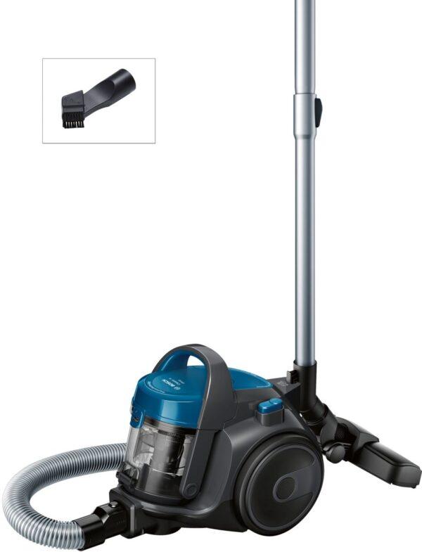 Aspirator fara sac Bosch GS05 Cleann'n BGS05A220, 700 W, 1.5 l, EPA, Gri-stone/Blue