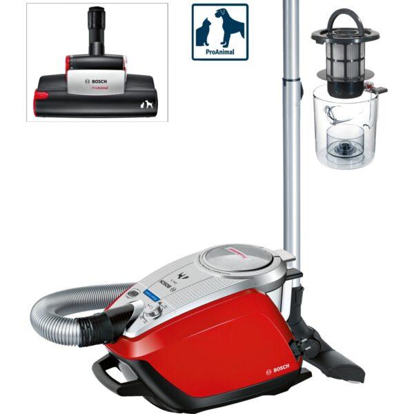 Aspirator fara sac Bosch Relaxx'x Zoo'o ProAnimal BGS5335, 700W, 3 l, HEPA, perie SilentClean Premium, perie ProAnimal turbo, perie pentru parchet, 3 accesorii