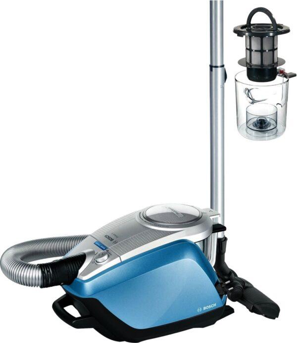 Aspirator fara sac Bosch Relaxx'x ProSilence Plus BGS5RCL, 700W, 3 l, HEPA, Gri metalic/Albastru