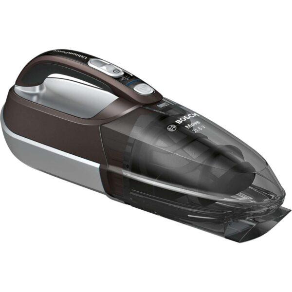Aspirator de mana Bosch Cordless Move BHN2140L, 21.6 V Li-Ion, Aut. 45 min, Chocolate brown metallic/ Silver