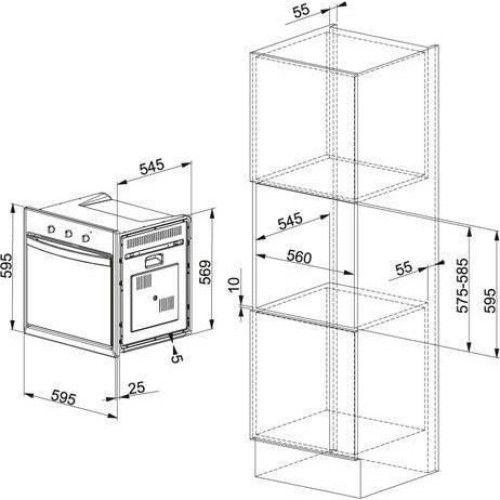 Cuptor incorporabil Franke Country CM 65 M XS, Electric, 59 l, 7 programe, Inox 116.0183.270 5600362