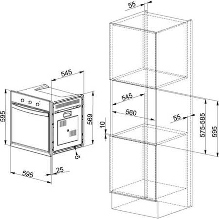 Cuptor incorporabil Franke Country CM 85 M SH, Electric, 66 l, 9 functii, Sahara 116.0183.307 5600366