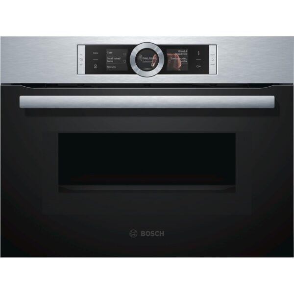 Cuptor incorporabil compact Bosch CMG656BS1, Optiune microunde, 12 functii, 45 l, Inox