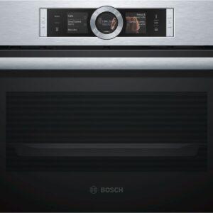 Cuptor incorporabil Bosch Compact CSG656BS1, 47 l, inox, cuptor multifunctional cu aburi (FullSteam), 12 functii de gatire, sistem de autocuratare EcoClean