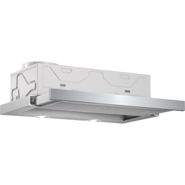 Hota Bosch DFM064W50, Telescopica integrata, Turbina 400 mc/h, 60 cm, 68 dB, Iluminare halogen, Inox