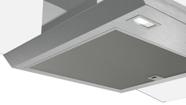 Hota Bosch Serie 4 DWA96DM50, Semineu arcada, 90 cm, max 580 m3/h, TouchControl si afisaj electronic, 3 trepte de putere + Intensiv, Inox + sticla