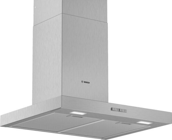 Hota Bosch Serie 2 DWB64BC50, Semineu dreapta, 60 cm, max 340 m3/h, Taste push, 3 trepte de putere, Inox
