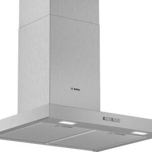 Hota Bosch Serie 2 DWB66BC50, Semineu dreapta, 60 cm, max 340 m3/h, Taste push, 3 trepte de putere, Inox