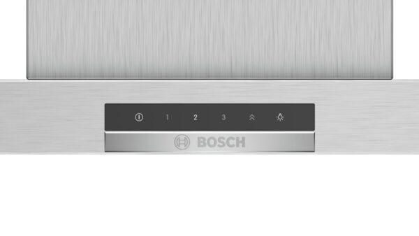 Hota Bosch Serie 4 DWB66DM50, Semineu dreapta, 60 cm, max 580 m3/h, TouchControl si afisaj electronic, 3 trepte de putere + Intensiv, Inox