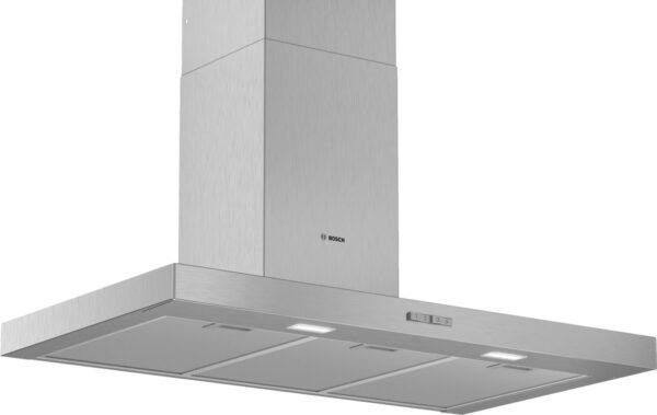 Hota Bosch Serie 2 DWB96BC50, Semineu dreapta, 90 cm, max 590 m3/h, Taste push, 3 trepte de putere, Inox