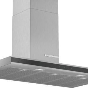 Hota Bosch Serie 4 DWB97FM50, Semineu dreapta, 90 cm, max 710 m3/h, TouchControl si afisaj electronic, 3 trepte de putere + Intensiv, Inox