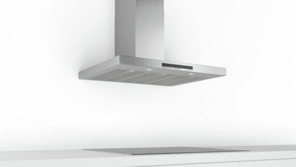 Hota Bosch Serie 4 DWB97IM50, Semineu dreapta, 90 cm, max 710 m3/h, TouchControl si afisaj electronic, 3 trepte de putere + Intensiv, Inox
