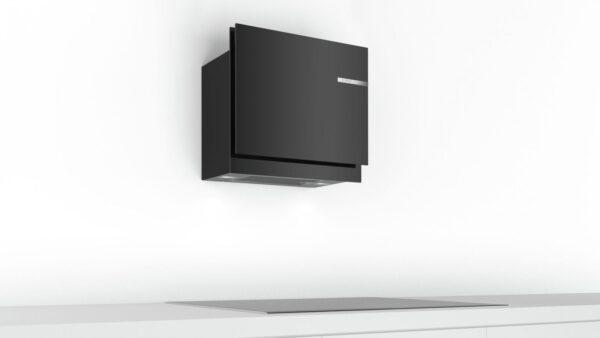 Hota Bosch DWF67KM60, Absorbtie periferica, 710 mc/h, 60 cm, TouchControl, PowerBoost, Sticla neagra