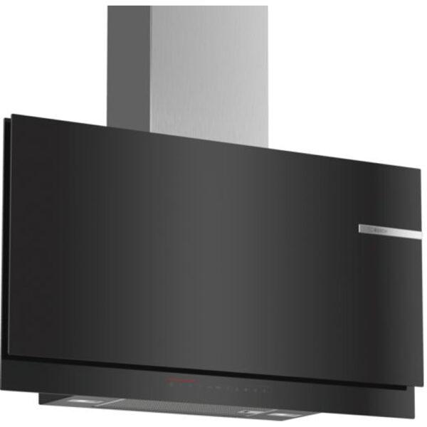 Hota Bosch DWF97KQ60, Absorbtie periferica, 730 mc/h, 90 cm, TouchControl, PowerBoost, Sticla neagra