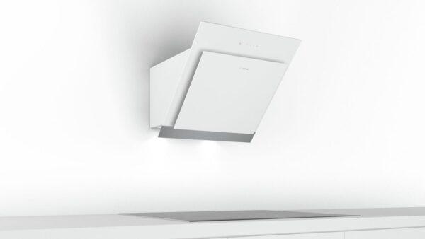 Hota Bosch DWK67HM20, absorbtie periferica, 660 mc/h Intensiv, TouchControl, 1 motor, 60 cm, Sticla alba