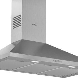 Hota Bosch Serie 2 DWP96BC50, Semineu conica, 90 cm, max 600 m3/h, Taste push, 3 trepte de putere, Inox