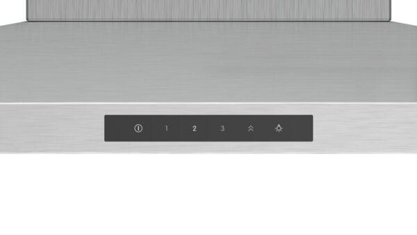 Hota Bosch Serie 4 DWQ96DM50, Semineu conica, 90 cm, max 610 m3/h, TouchControl si afisaj electronic, 3 trepte de putere + Intensiv, Inox