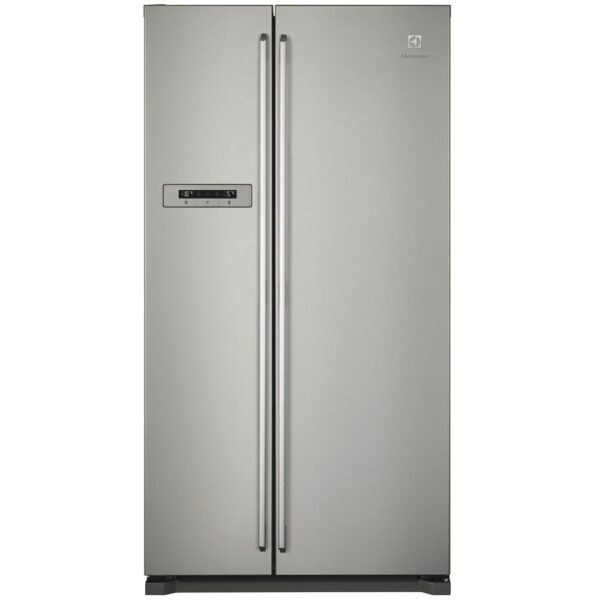 Frigider Side by Side Electrolux EAL6240AOU, 577 l, No Frost, A+, Display, LED, Inox