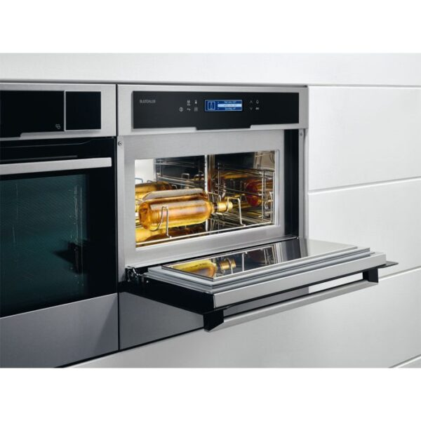 Congelator rapid incorporabil Electrolux EAT1AX, H 45 cm, Control touch, 3 rafturi, Racire sticle, Inghetare, Inox antiamprenta