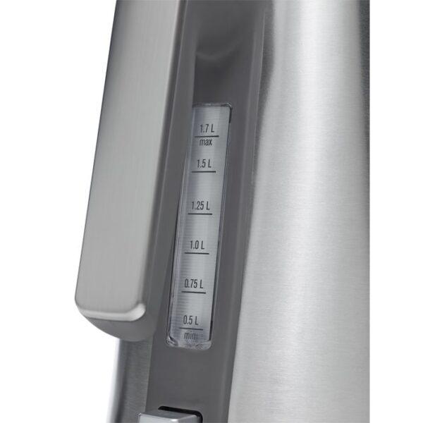 Fierbator cordless Electrolux Expressionist Collection EEWA7800, 2400 W, LCD Display, 5 setări programabile pentru temperatură, Funcţie OneCup Turbo™, 1,7 l, Inox