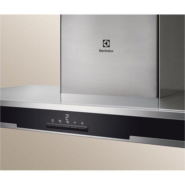 Hota Electrolux EFB60566DX, Semineu dreapta - front cu insertie de sticla, 60 cm, 660 mc/h, Inox