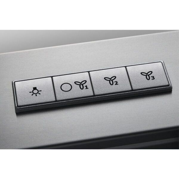 Hota Electrolux EFB90460OX, Semineu dreapta, 603 mc/h, 1 motor, 3 viteze, 90 cm, Inox