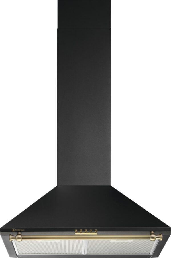 Hota semineu conica Electrolux EFC216R, 368 m3/h, 3 viteze, 60 cm, Negru mat