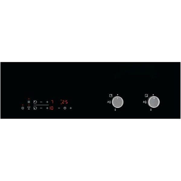 Plita incorporabila mixta Electrolux EGD6576NOK, 2 zone gaz, 2 zone inductie, Aprindere electrica, 60 cm, Sticla neagra