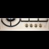 Plita incorporabila Electrolux EGH6343RON, Gaz, 4 arzatoare, Gratare de fonta, Rustic crem