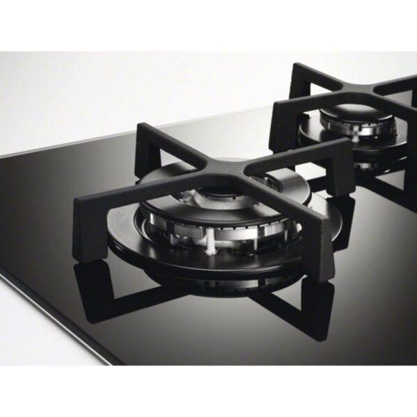 Plita incorporabila Electrolux EGT6242NVK, 60 cm, Gaz, 4 arzatoare, aprindere, sticla neagra