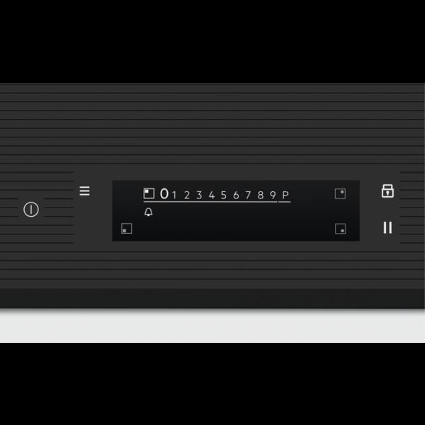 Plita incorporabila Electrolux EIS7548, Inductie, 4 Arzatoare, Control touch, Ecran TFT, Bridge, 70 cm, Sticla neagra
