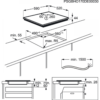 Plita incorporabila Electrolux EIV63440BS, Inductie, 4 Arzatoare, Bridge, Control touch, 60 cm, Sticla silver